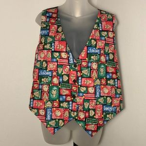 Basic Editions Holiday • Gingerbread Print Vest